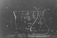 synthetic (bokeh burger) Tags: leica blackandwhite bw music film fog analog diy grain cables wires modular synth 100 analogue agfa knobs apx m4p caffenol caffenolc