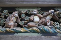 Sanzaru relief at Nikko Toshogu shrine, Tochigi, JAPAN / 三猿 / 日光東照宮 (栃木県日光市) (y-shindoh) Tags: scene fujifilm apsc xe2 xf1855mmf284rlmois