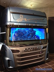 Scania Aqualine Cab (stuart.wolstenholme) Tags: west sweden trucks pennine scania topline sodertalje scaniaaqualinecabbuiltinaquariumondisplayatthescaniamuseum