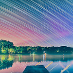 Star Trails over Loon Pond thumbnail