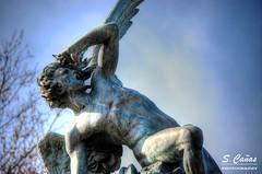 Angel Caido (Ousia Dark) Tags: madrid blue espaa azul angel lucifer fallenangel estatua elretiro angelcaido paquedelretiro
