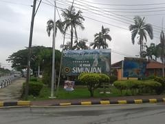 Welcome to Simunjan. (Sama AB) Tags: landscape view sarawak borneo welcome smalltown pasar selamat datang pekan simunjan