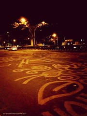 Street Photography Night Photography Alpona Street Art at Manik Mia Avenue (Ashraf মিলন Milon) Tags: nightphotography streetart streetphotography alpona