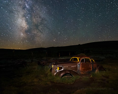 Bodie in July I (Jeffrey Sullivan) Tags: bodie state historic park easternsierra milkyway night photography workshop abandoned wild west mining ghost town monocounty bridgeport california unitedstates usa canon eos 6d photo copyright 2016 jeff sullivan july 29 1937 chevy rusty car rural decay