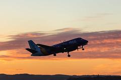 G-LGNG SAAB 340, Edinburgh (wwshack) Tags: edi egph edinburgh edinburghairport flybe loganair night saab340 scotland sunrise turnhouse glgng