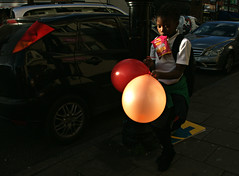 Balloons (Becky Frances) Tags: colour colourstreetphotography documentary england eastlondon eastend balloons london light lensblr olympus streetphotography socialdocumentary hoxton urban uk 2017