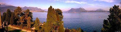 Lago Maggiore 11/10/2015: Panoramic view from the gardens of Isola BellaVista panoramica dai giardini dell'Isola Bella