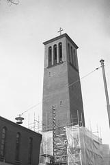 Katolska Kyrkan (rotabaga) Tags: sverige sweden svartvitt göteborg gothenburg caffenol tmax100 diy contina blackandwhite bw bwfp