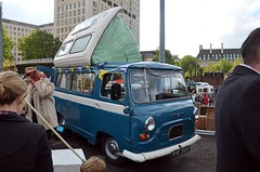 1971 Austin Morris J4 Camper (Malc Edwards) Tags: london malc classiccarbootsale car vehicle southbank se1 october2013 austin morris j4 camper 1971