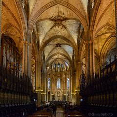 Cathedral Choir - Barcelona, Spain (N+C Photo) Tags: barcelona d800 mediterranean catalonia cataluña iberia spain nikon nikkor nikond800 history historic architecture architectural arquitectura nave medieval choir gothic christian catholic cathedral arches travel traveler photographer artists explore explorer exploring
