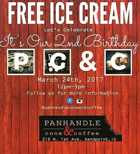 Panhandle Cone and Coffee is turning 2 this Friday. We have the privilege of celebrating with them and thanking the 7B community by giving away free ice cream. They have invited us (@westernpleasureguestranch ) ,  @talusrockretreat @evansbrotherscoffee @t