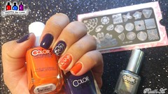 Nail-Robi + With the Cabana Boy - Color Club (Raabh Aquino) Tags: nails unhas cremoso marble laranja orange blurple holo harunouta