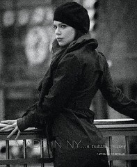 Black & White (frenchgirlinphilly) Tags: model modeling photography blackandwhite isabelladavid actress actor nyc manhattan columbuscircle fashion fashionphotography sustainablefashion frenchgirl beret hatgame trenchcoat springfashion layers ootd