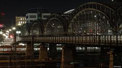 the bridge (lichtauf35) Tags: hackerbrücke nightlights longtime sigmaex85f14 tripod manualwb lightslines vanishing urbanlights steelbridge rails lightroom availablelight 1000views lichtauf35