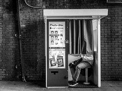 booth (dizbin) Tags: bw blackandwhite candid city dizbin england em10 hampshire hants monochrome minimal minimum mono mzuiko olympus omd omd10 photo photograph photography people portrait prime portsmouth station street town urban