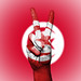 Peace Symbol with National Flag of Tunisia