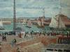 PISSARRO Camille,1903 - L'Anse des Pilotes et le Brise-lames Est, Le Havre, Après-Midi, Temps ensoleillé (Le Havre) - Détail 13