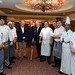 Joe Dolan, President IHF, Lorraine Walsh & Xavier McAuliffe, Proprietor of Lyrath, Gary Rogers, Executive Chef and the chefs at the Welcome Buffet
