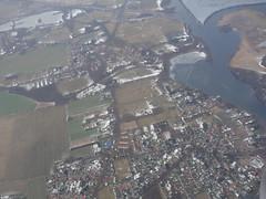 201701010 AB6534 STR-TXL Ketzin (taigatrommelchen) Tags: 20170105 germany ketzin river havel snow town aerial view photo airplane inflight ber