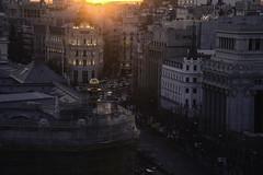 SuN GoEs DoWn In MaDrId (alexpapad) Tags: sunset city madrid cibeles mirador buildings people cars nikon full frame afternoon spain europe cityscape urban