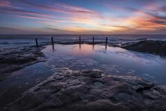 Swirls (Crouchy69) Tags: sunrise dawn landscape seascape ocean sea water coast clouds sky rocks reflection ivor ivo rowe pool coogee sydney australia