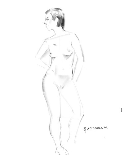 We had incredible amazing model on Art session ;) 5 min sketch