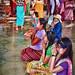 Pilgrims at the Full Moon Festival in Bagan