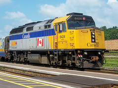 Via 6424 Roster (Joseph Bishop) Tags: via 6424 emd f40ph2 trains train track tracks railfan railroad railway rail rails cndundassubdivision brantford
