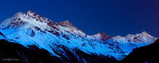 Blue hour on the swiss Alps