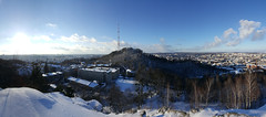 Panorama of High Castle Hill (tarmo888) Tags: samsunggalaxy s6edge android smartphone geotaggedphoto geosetter sooc photoimage фотоfoto year2016 beenwaiting snow lumi снег ukraine україна ukrayina украи́на украина lviv lwów lvov lemberg львів львов leopolis lwow photospherepanorama fisheye