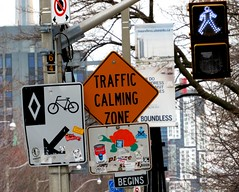 Toronto (quirkyjazz) Tags: roadsign traffic zone calming funnysigns