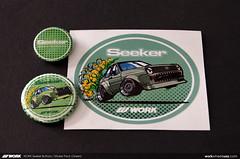 WORK Seeker Button & Sticker Pack (Green) (workwheelsusa) Tags: stickers accessories decal seeker decals workwheelsusa