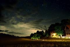Putney's Night Sky (AaronBerkovich) Tags: bon night fire star student nikon long exposure vermont time trails nat geo productions starry peking putney d800 expeditions ngse aaronberkovich photosbyaaronberkovich natgeostudentexpeditionschina