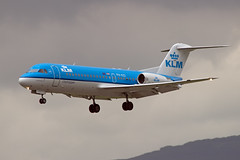 Dutch Fokker (GWMcLaughlin) Tags: plane canon airplane scotland flying airport glasgow aviation flight aeroplane landing dslr klm flugzeug 70 canondslr avion gla fokker f70 cityhopper 600d fokker70 avgeek phkzi egpf