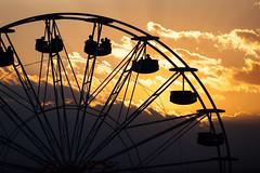 ferris wheel (S_end) Tags: light sunset ferriswheel amusementpark