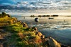 Gold (dubdream) Tags: sunset sky cloud seascape germany landscape island lumix gold shoreline balticsea panasonic fehmarn cloudysky schleswigholstein sailingboat calmsea colorimage wetreflection ortherreede dubdream dmcgx7