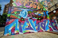 OWED NEKAH (Di's Free Range Fotos) Tags: new uk england graffiti brighton quarter lostboys owed nekah dfn