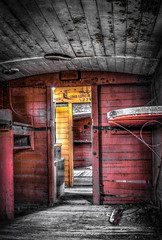 Inside an old Guards Van (Chas56) Tags: railway newport van newportworkshops 7drustictraintrainscarriageguards workshopsrailway workshopsworkshopsindustrialhdrcanoncanon