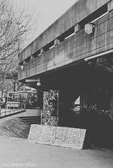 Long Live Southbank (JacobSmithFilm) Tags: street uk urban white black building london art history film weather architecture 35mm river concrete graffiti nikon long paradise britain walk live jacob culture overcast smith save southbank skate skateboard and fujifilm brutalist 70mm f401 jacobsmithfilm