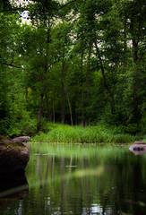 Stora Brogrden Waters (Eldkvast) Tags: green water woods  vatten trd kalmar grn stora bck reflektioner blnk brogrden