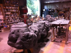 Boulders by John R. Pleak (johnr.pleak) Tags: sculpture film nature rock stone set painting design rocks scenic carving replica boulders foam hollywood movies props prop setdesign 2014 spfx syfy johnrpleak johnpleak