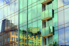 Old On New | Modern Reflection of Classic Architure (vyktureous) Tags: new old reflection building classic glass modern reflections reflecting mirror architectural reflect on architure