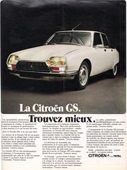 Pub CITROEN GS (xavnco2) Tags: auto classic cars magazine ads advertising french automobile citroen advert 1970 autos common werbung publicité gs pubblicità presse
