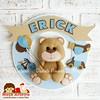 Ursinho Erick (Moça Arteira • Dani Brancalhão Pimenta) Tags: feltro decoração urso ursinho enfeiteparaportadematernidade nomedefeltro enfeiteparaportadoquartodobebê