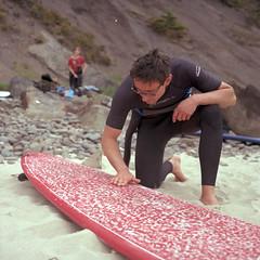Wax (Ray Phung Photography) Tags: people 6x6 film nature sport oregon analog rolleiflex zeiss mediumformat square coast surf kodak outdoor surfing adventure surfboard epson wax manual ektar shortsands oswaldstatepark v700 28e lenstagger erikspellmeyer