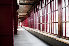Central Station, Antwerp (salserasara) Tags: red glass station antwerp rood antwerpen antwerpencentraal