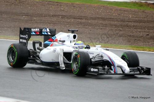 Felipe Massa during Free Practice 3 at the 2014 British Grand Prix