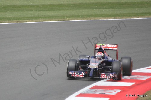 Daniil Kvyat in The 2014 British Grand Prix