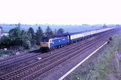 87 014 090587 Colton 47555 (The KDH archive) Tags: 1987 railway colton class47 47126 d1717 47555