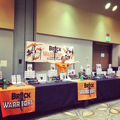 Cori is all set for #bricksbythebay in San Jose, California!  Stop by the booth and say hi!  Public hours are tomorrow from 9-4! #lego #brickwarriors #minifigure #afol #tfol #legominifigures (MandaBW) Tags: by square bay lego bricks squareformat minifigure amaro iphoneography bricksbythebay instagramapp uploaded:by=instagram brickwarriors